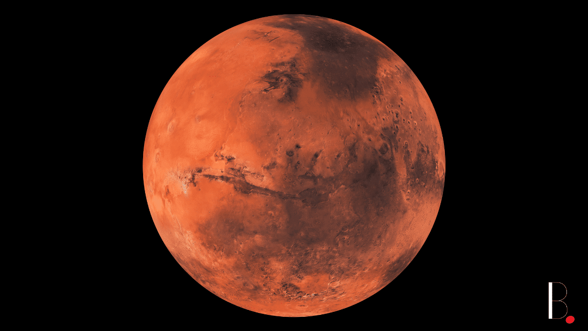 Entire red planet Mars