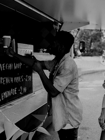 Food truck repas clients pause