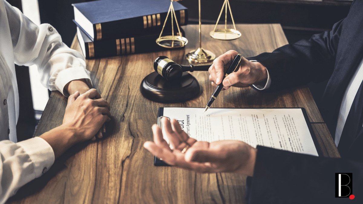 Lawyer law balances justice