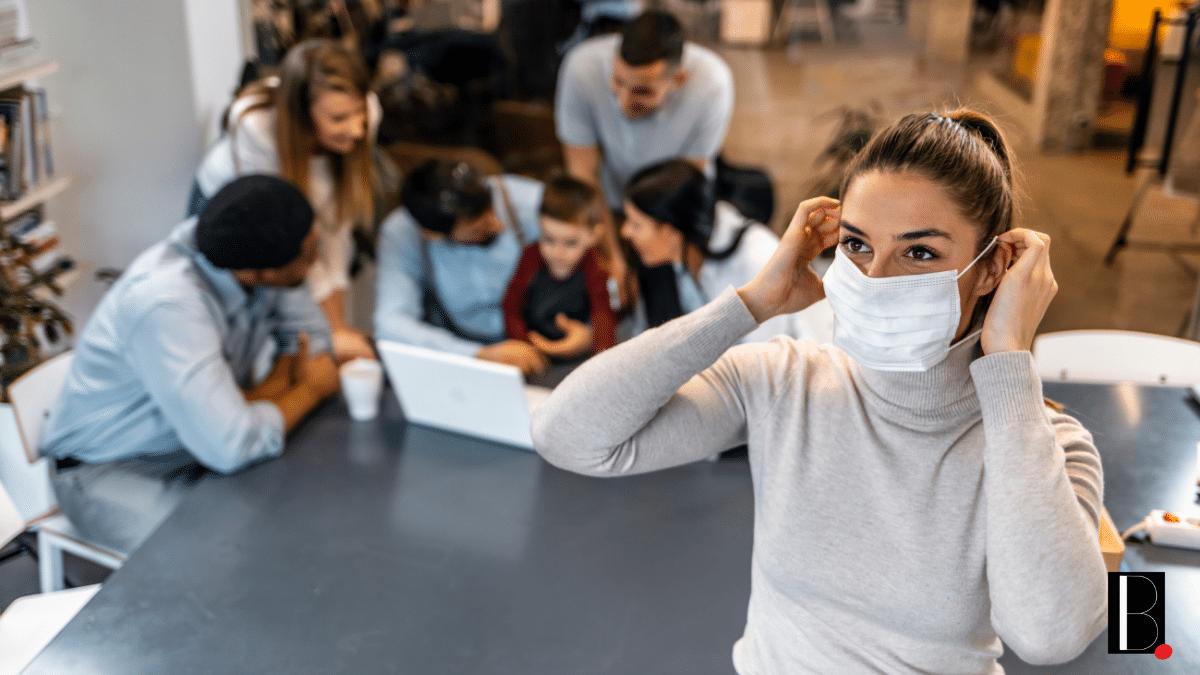 wearing mask company mandatory health protocol covid-19