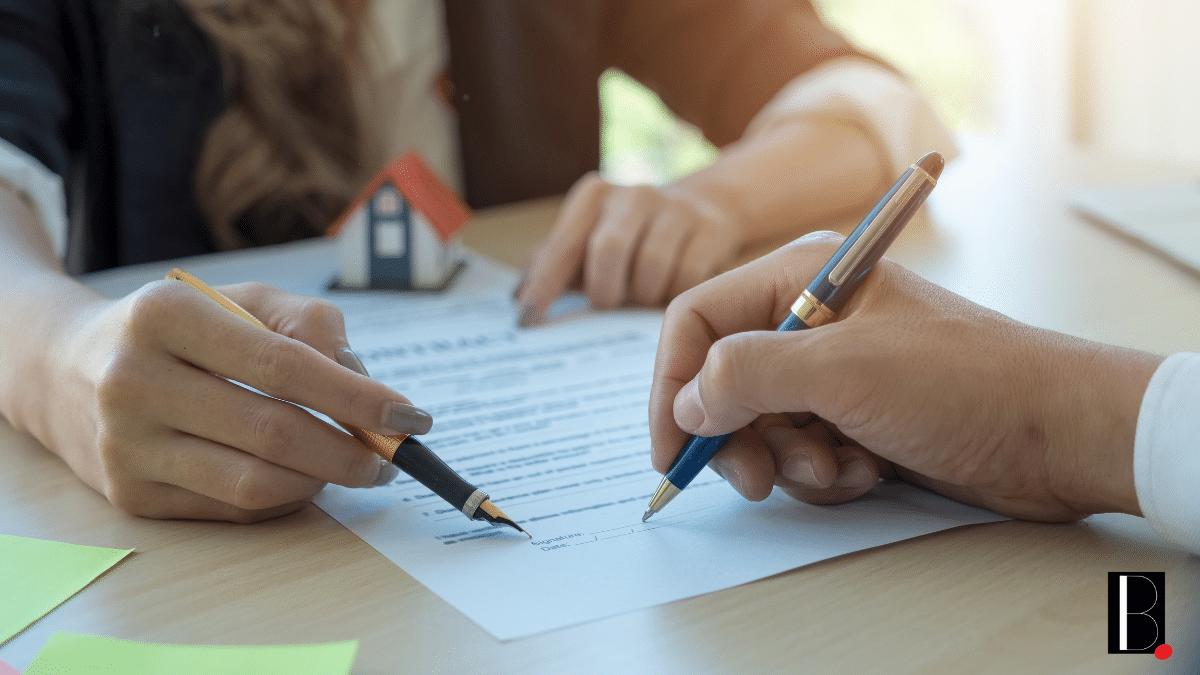 Signature bail immobilier logement achat