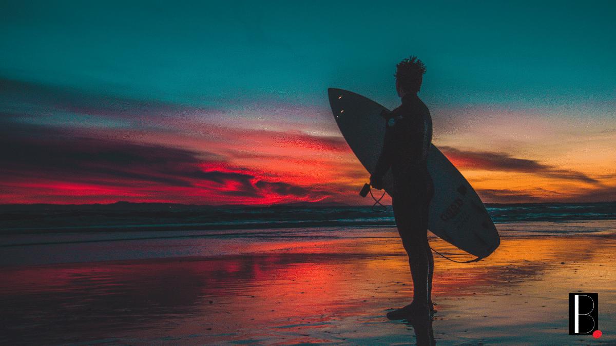 Surf surfeur plage océan