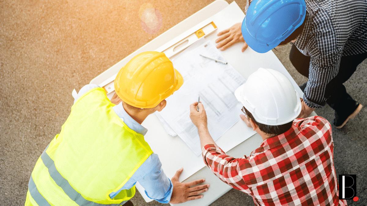 Construction bâtiment plans chantier