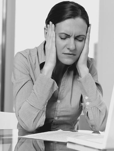 Business manager stress fatigue