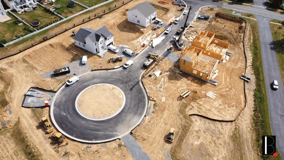 Construction quartier immobilier