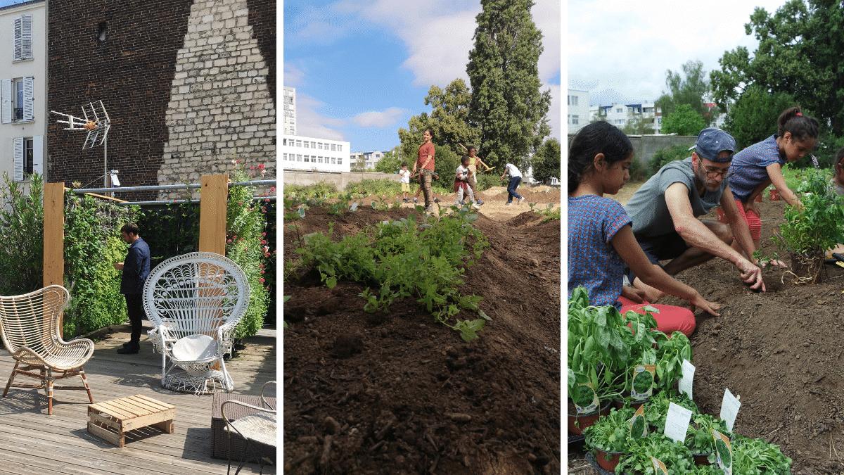 Jardin végétal ville citadins