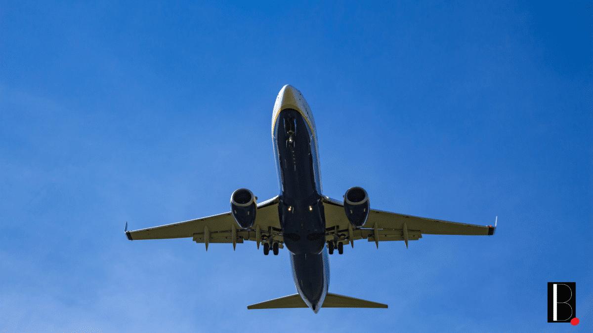 Vol avion commercial tourisme