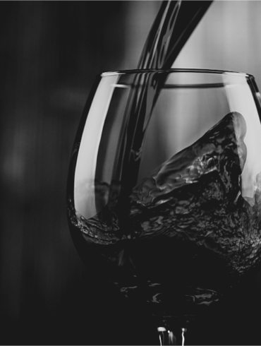 Ethical wine glass of red wine