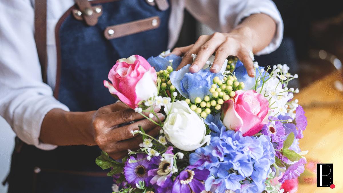 Bouquet fleurs composition