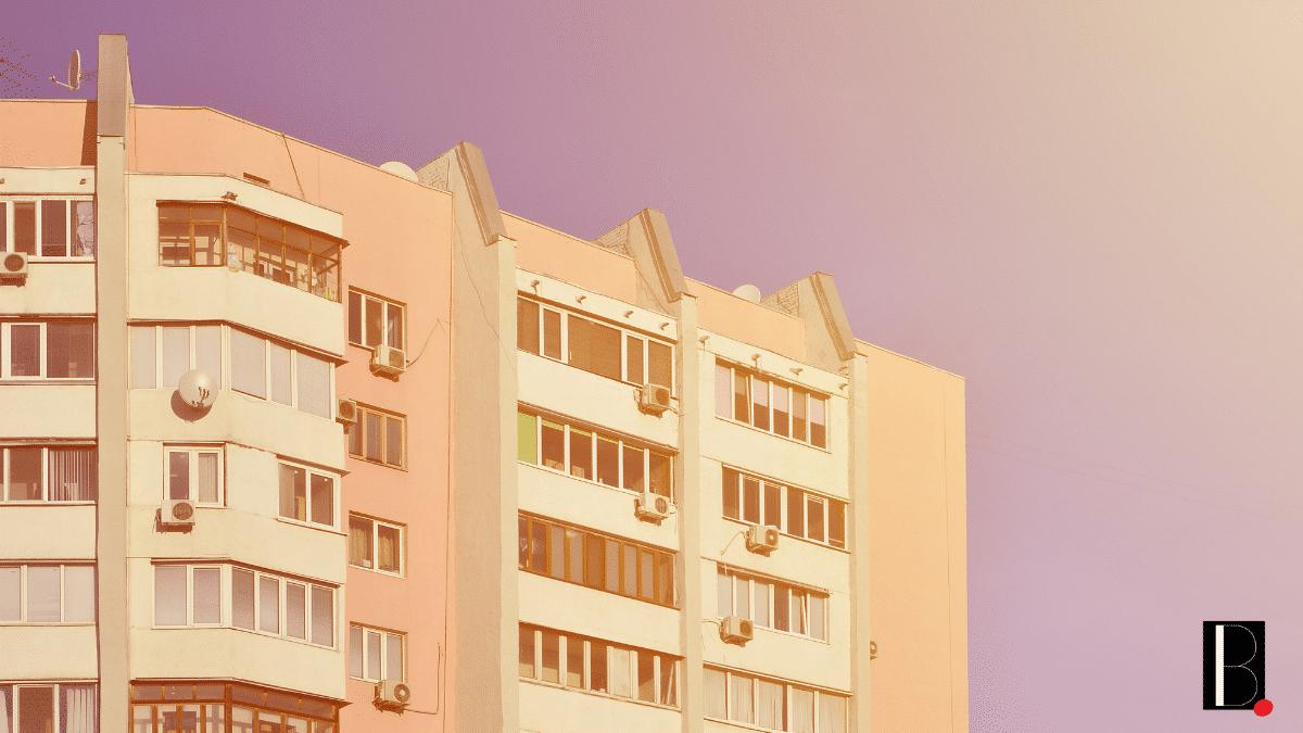 Immeuble appartements logements ville