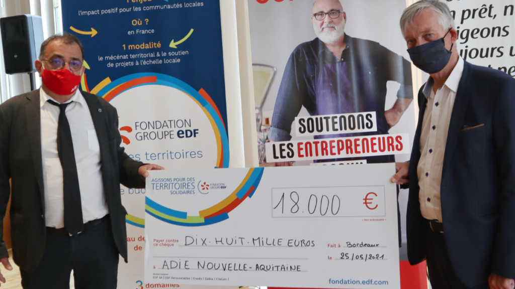 Fondation EDF Adie Nouvelle Aquitaine engagement