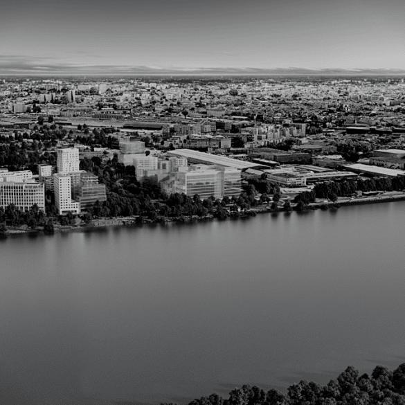 Aerial view quai Bordeaux Quai Neuf