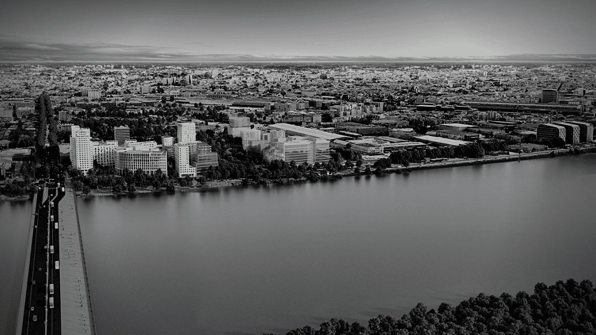 Vue aérienne quai Bordeaux Quai Neuf